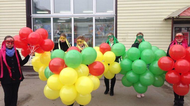 Организовали флэшмоб для магазина Светофор